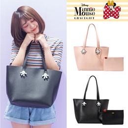 Gracegift-Disney Mickey Mnnie Glove Pair Handbag/Women/Ladies/Taiwan Fashion