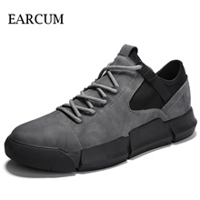 Autumn Shoes Men Outdoor Casual Rubber Man Sneakers Comfortable Walking Black Adult Male Basket Leat
