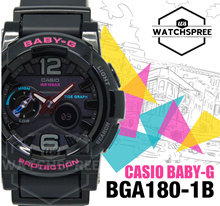 *CASIO GENUINE* CASIO BABY-G Tide Graph Ana-Digi Watch BGA180-1B! Free Shipping and Warranty!