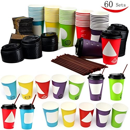 Qoo10 Youngever 60 Coffee Cups With