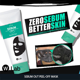 [W.Lab] ✨SEBUM OUT PEEL OFF MASK✨Pore Clean♥Cooling Down✨ Blackhead Care