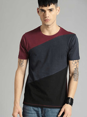 Maroon Side Panal Tshirt