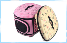 Dogs Cats Travel Bag Folding Small Pets Carrier flower print Travel Cage Collapsible Crate Tote Handbag PA11