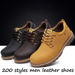 2018 man brand shoes flat shoes mens shoes genuine leather mens loafers men boots British style men