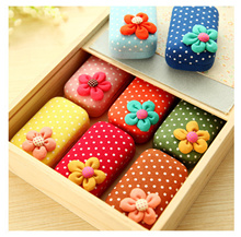 Sweet cute contact lens case in Korea flowers Shuiyu point US-pupil essential travel companion box