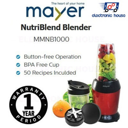 ★ Mayer MMNB1000 NutriBlend Blender ★ (1 Year Singapore Warranty)