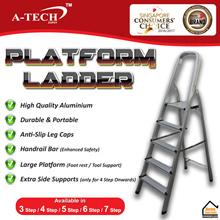 A-TECH™ ★ Aluminium Platform Step Ladder ★【3 Step / 4 Step / 5 Step / 6 Step / 7 Step】