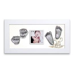★送料無料★立体的な手形・足型 ママとパパが赤ちゃんに贈る世界で一つだけのプレゼント 出産祝いに最適 赤ちゃん 3D 立体 手足型メモリアル DIY/(手形・足型:Silver)WH8