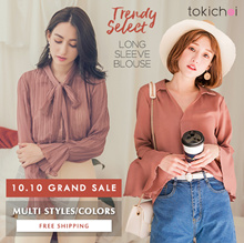 TOKICHOI - Trendy Long Sleeve Blouses/Women/Girl/Ladies Clothing-Free Shipping