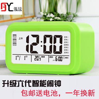 Wang Yun creative voice tells the luminous silence alarm clock bedside  table multifunctional student
