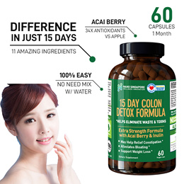 [PRE-ORDER] No.1 Colon Detox [60 Caps] Enzyme+Acai Berry+Papaya+Ginger ❤ Colon Cleansing ❤ Superfood