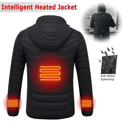 95406116a564 wholesale Winter Fashion Mens Jackets and Coats Intelligent Heating Jacket  USB Electric Battery Heat