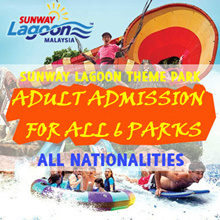 Sunway Lagoon Theme Park Admission for Adult - ALL 6-Parks!!