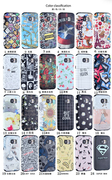 My colors Cartoon 3D Relief shell for IPhone 6/6S/6 Plus/6S Plus/5/5S/SE、Samsung Galaxy S7