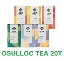 [OSULLOC] Korea JEJU Tea / black Milk Tea / Green Tea / tangerine Special Tea 20EA