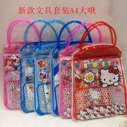 Children Day Gift! A5 Bag with Stationery*Frozen/Minions/Princess/Car/Hello Kitty/Baymax/Poli/Zootap