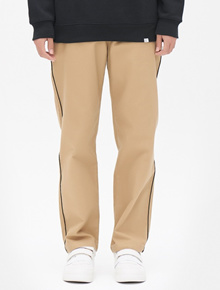 8SECONDS Twill Piping Baggy Fit Pants - Beige