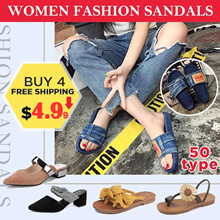 【$4.99 last 3 days】korean wedge Sandals Heels  Slim Shoes/Women Buckle sandals/platform shoes/ flip
