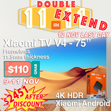 $110 coupon Promo only start from 9-11 Nov❤BEST SELLER❤XIAOMI TV 75 inch