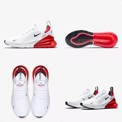 promo code 9a7cf 883ea [White Red Fashion Exhibition ck173] Nike Air Max 270 White University Red  BV2523-100 Max 270
