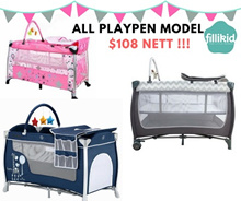 BABY PLAYPEN/ MATTRESS/COVERS [ON SALES!!] FREE DELIVERY+INSTALLATION