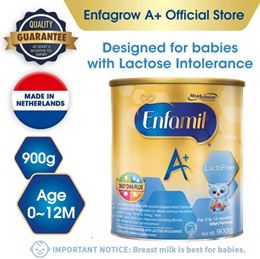 Enfamil A+ Stage 1 Lactofree Infant Formula Baby Milk Powder 360DHA+ (0-12M) 900g