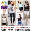 [ORTE]  PLUS SIZE XL-XXXL★Tubes★Panties★Bra★Leggings★Shorts★Skinny Pants★Skirt★Fast Delivery