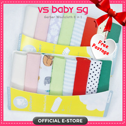 ❤️Gerber Baby Wash cloth❤️ 8 pcs set❤️ Infant Face towel ❤️ baby cotton hankie❤️ Local ❤️