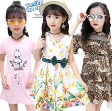 2017 Girls dress / Princess dress / Casual School Pattern / Baby party dress / Kids Korea Skirts
