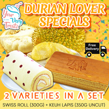 Durian Lovers Special ( Kueh Lapis Plus Swiss Roll)