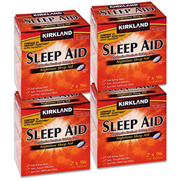 [KIRKLAND SIGNATURE] SPPPOA065903 - Sleep Aid Doxylamine Succinate 25 Mg, 192-Count, Pack of 4