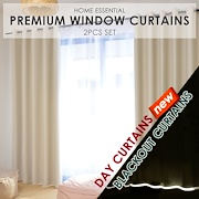 [Cart Coupon Friendly!] ★99% Sunlight Blockout Curtains / Blackout Curtains / Day Curtains ★ 2 Pcs