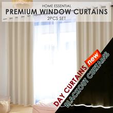 [Cart Coupon Friendly!] ★99% Sunlight Blockout Curtains / Blackout Curtains / Day Curtains ★ 2 Pcs