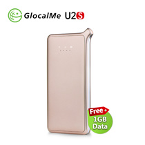 GlocalMe U2S Lite Mobile Hotspot Worldwide High Speed WiFi Hotspot with 1GB Global Initial Data Gold