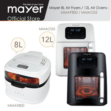 Mayer Jumbo 12L Air Oven MMAO55 / 8L Air Fryer MMAF800 / 1 Yr Warranty