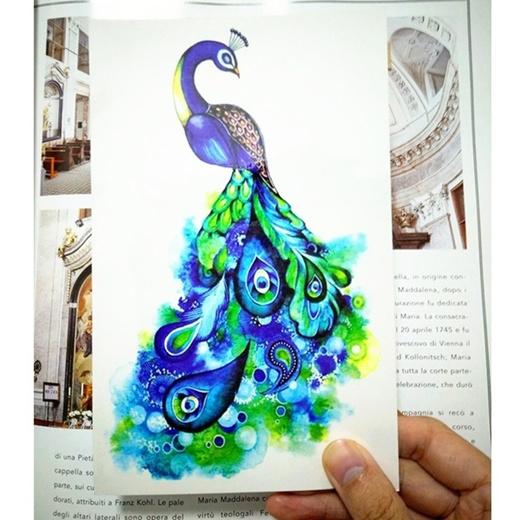 Qoo10 Fantasy Peacock Temporary Tattoo Body Art Sleeve Arm Flash Tattoo Stic Skin Care