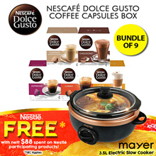 [[Bundle of 9]] NESCAFE DOLCE GUSTO NDG Coffee Capsules Box 15types -16s/8s!Nestle Authorized Seller