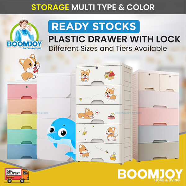 (Korea Living) Multi Plastic Cabinet Drawer Storage Rack Table Chair with lock Usual Price $121 Deals for only S$69.9 instead of S$69.9