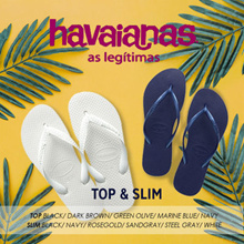 [HAVAIANAS] 2 for Free shipping★16 Type TOP&SLIM  Flip flop slipper