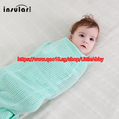 Qoo10 Cotton Hollow Baby Blankets Breathable Newborn Wrap