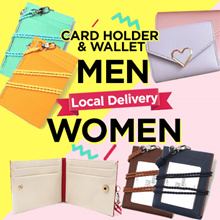 [Local Delivery💗] ★KOREA HIT★ID Card Leather Card Wallet / Card Holder / Lanyard / Wallet / ezlink card holder
