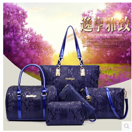 2016 new serpentine hit color package mother of six packets of fashion handbags ladies handbag shoul