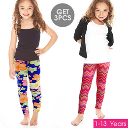 Get 3 Pcs_Kids leggings pants many variant _Age 1 to 13 Years / Wholesale Price Children Pants