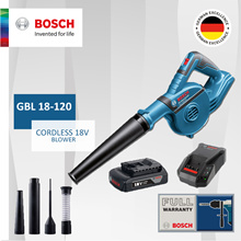 [Official E-Store] Bosch GBL 18V-120 Cordless Blower 18V. Come with set of Accessories. Bundle Set!
