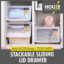 Large / Extra Large Stackable Sliding Lid Drawer ♦ Stackable Design ♦ Durable ♦ 100% Virgin PP