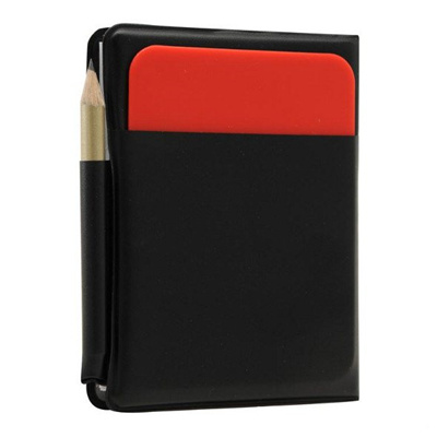 Soccer Referee Wallet Red Card and Yellow Card Wallet Pencil Notebook  wr