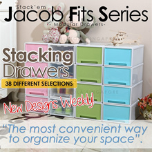 【#Jacob Fits】 💥PLASTIC STORAGE CONTAINER BOX/STACKING/SINGLE TIER DRAWER/DRAWER/ CUBE💥