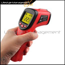 Handheld Infrared Thermometer Temperature Measuring Backlight Laser Pointer Non-Contact