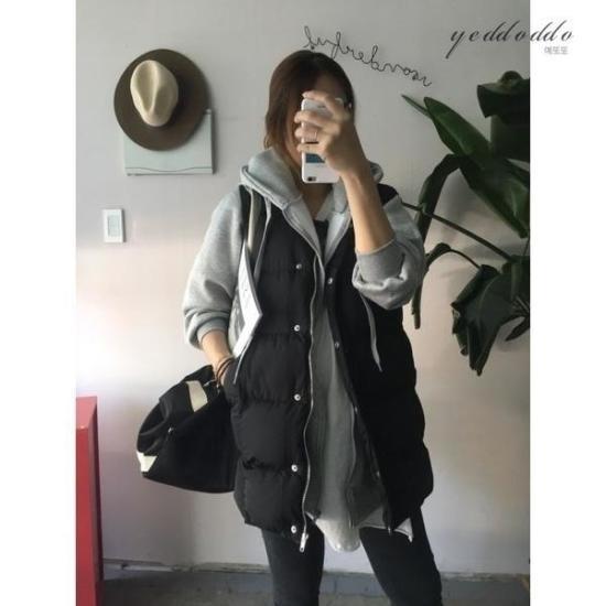 はいトト行き来するようにはいトトウェルロンチャイナパディングチョッキ プリントのワンピース/ 韓国ファッション