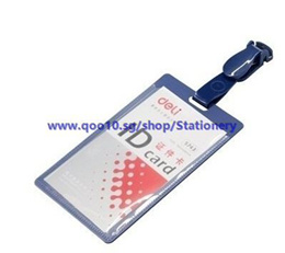 Deli Badge Holder 5743 work permits badges badges with clip a work card pack (10)_Office Stationery